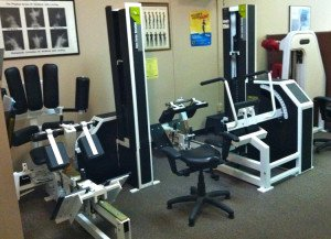Picture of Spinal Rehab machine we use in the office